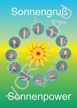 Sonnengruß-Sonnenpower-Poster